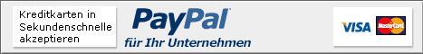 Melden Sie sich bei PayPal an, und akzeptieren Sie sofort Kreditkartenzahlungen.